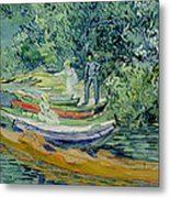 Bank Of The Oise At Auvers Metal Print