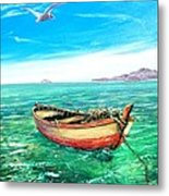 Barca In Mare N.2 Metal Print