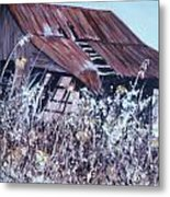 Barn in Sunlight Metal Print
