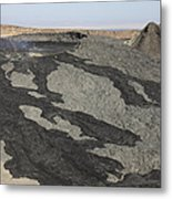 Basaltic Lava Flow From Pit Crater Metal Print
