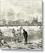 Baseball: England, 1874 Metal Print