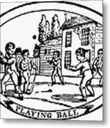 Baseball Game, 1820 Metal Print by Granger