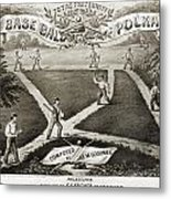 Baseball Polka, 1867 Metal Print