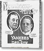 Baseball Program, 1923 Metal Print