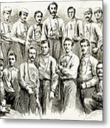 Baseball Teams, 1866 Metal Print