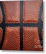 Basketball - Leather Close Up Metal Print