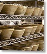 Baskets At A Bakery Metal Print