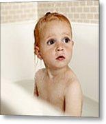 Bathing Child Metal Print