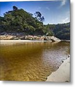 Beach Erosion Metal Print