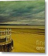 Beach Of Leight Edinburgh Metal Print by Elena Mussi