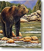 Bear Catch Of The Day Metal Print