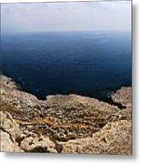 Beautiful View On Mediterranean Sea From Cape Gkreko In Cyprus Metal Print