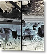 Before And After Hurricane Eloise 1975 Metal Print