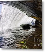 Behind Bridal Veil Falls In Dupont State Park Nc Metal Print