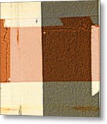 Bench Abstract Metal Print
