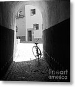 Bicycle In Tunnel Metal Print by Gordon Wood