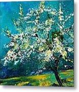 Blooming Appletree Metal Print