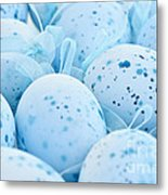 Blue Easter Eggs Metal Print by Elena Elisseeva