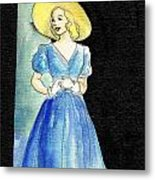 Blue Gown Metal Print