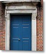 Blue Irish Door Metal Print