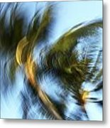 Blurred Palm Trees Metal Print
