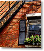 Boston House Fragment Metal Print