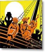 Boston Tea Party Raiders Retro Metal Print by Aloysius Patrimonio