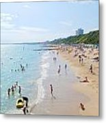 Bournemouth Beaches Metal Print