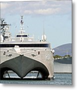 Bow On View Of The Us Navy Experimental Metal Print