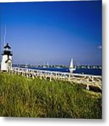 Brant Point Lighthouse Metal Print