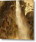 Bridal Veil Falls At Yosemite Metal Print