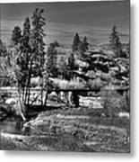 Bridge Over A Creek  Metal Print