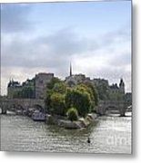 Bridges On River Seine. Paris. France Metal Print