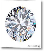 Brilliant Diamond Metal Print by Setsiri Silapasuwanchai