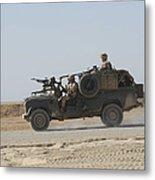 British Soldiers Patrol Afghanistan Metal Print