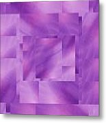 Brushed Purple Violet 3 Metal Print