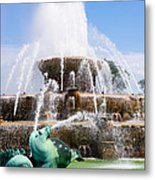 Buckingham Fountain In Chicago Metal Print
