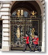 Buckingham Palace Guards Metal Print