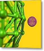 Buckyball Molecules, Artwork Metal Print