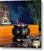 Buddhist Altar Metal Print by Yali Shi