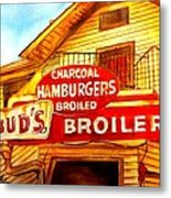 Bud's Broiler Metal Print by Terry J Marks Sr