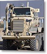 Buffalo Mine Protected Vehicle Metal Print
