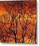 Burning Sky Metal Print