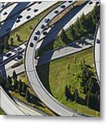 Busy Freeway Interchange Metal Print by Don Mason