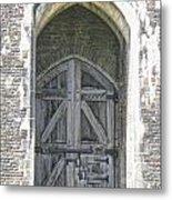 Caerphilly Castle Gate Metal Print