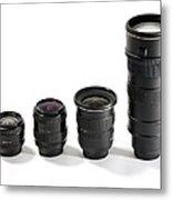 Camera Lenses Metal Print by Johnny Greig