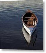 Canoe On Gander River, Gander Bay Metal Print