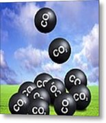 Carbon Dioxide And Climate Change Metal Print