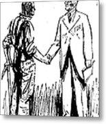 Cartoon: Fdr & Workingmen Metal Print