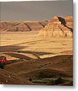 Castle Butte In Big Muddy Valley Of Saskatchewan Metal Print